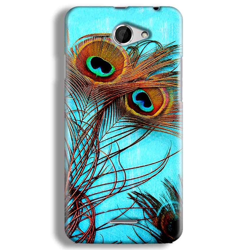 HTC Desire 516 Mobile Covers Cases Peacock blue wings - Lowest Price - Paybydaddy.com