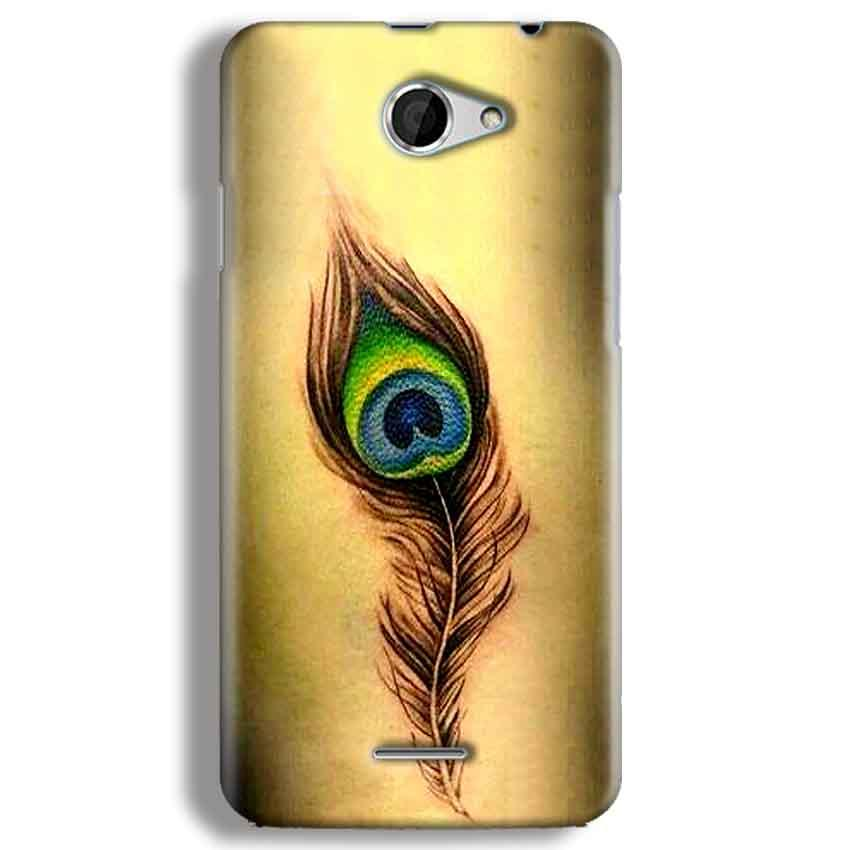 HTC Desire 516 Mobile Covers Cases Peacock coloured art - Lowest Price - Paybydaddy.com