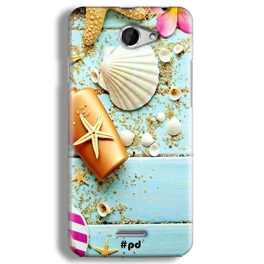 HTC Desire 516 Mobile Covers Cases Pearl Star Fish - Lowest Price - Paybydaddy.com