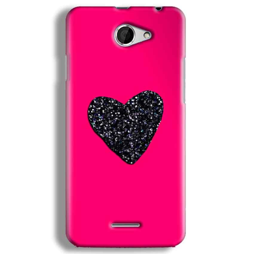 HTC Desire 516 Mobile Covers Cases Pink Glitter Heart - Lowest Price - Paybydaddy.com