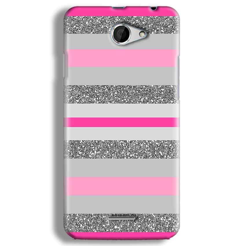 HTC Desire 516 Mobile Covers Cases Pink colour pattern - Lowest Price - Paybydaddy.com