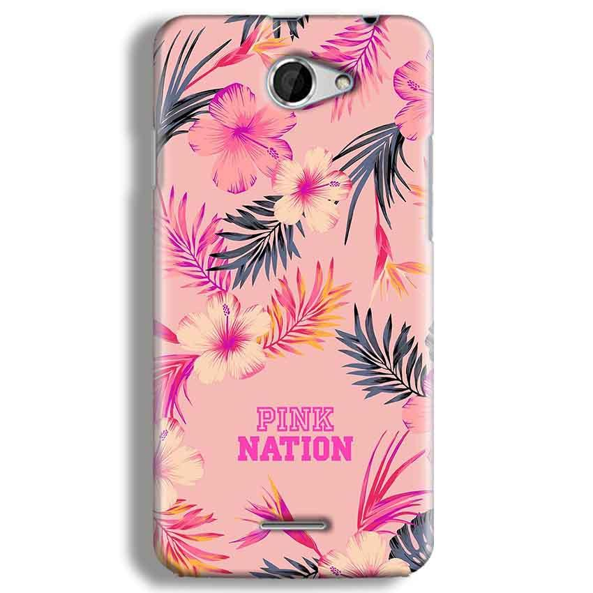 HTC Desire 516 Mobile Covers Cases Pink nation - Lowest Price - Paybydaddy.com
