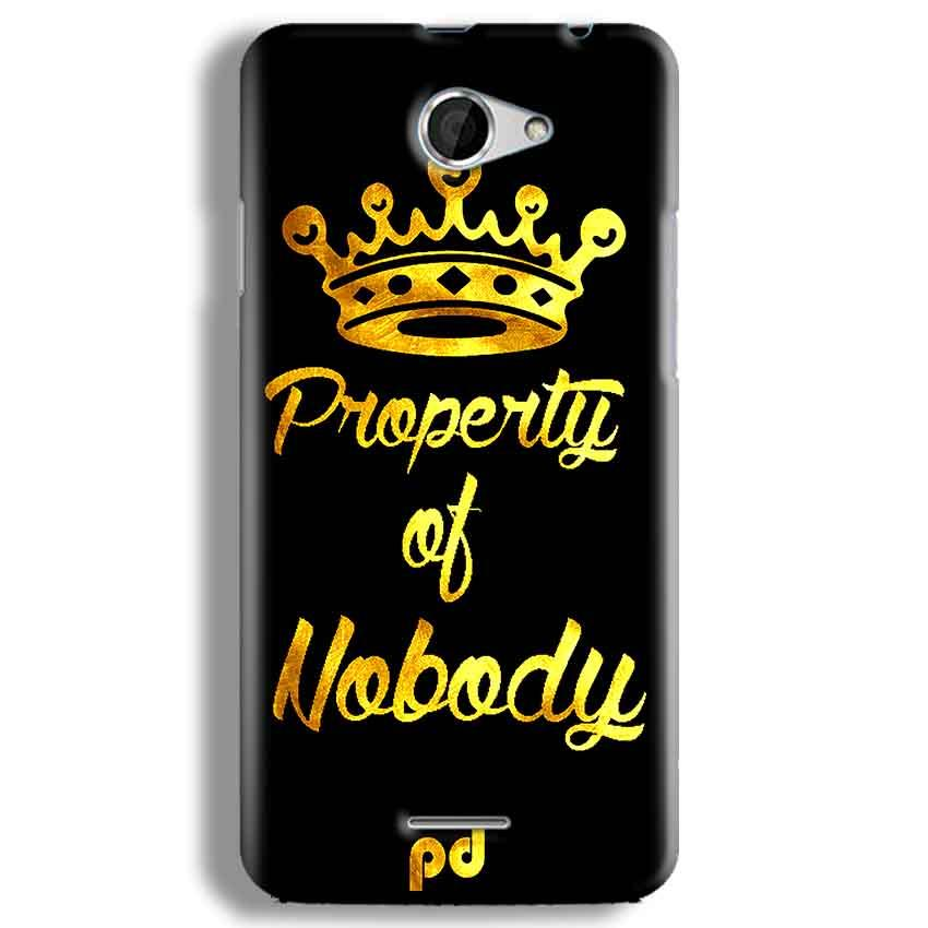 HTC Desire 516 Mobile Covers Cases Property of nobody with Crown - Lowest Price - Paybydaddy.com