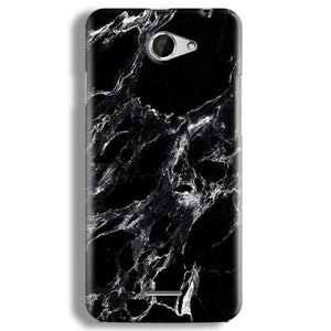 HTC Desire 516 Mobile Covers Cases Pure Black Marble Texture - Lowest Price - Paybydaddy.com
