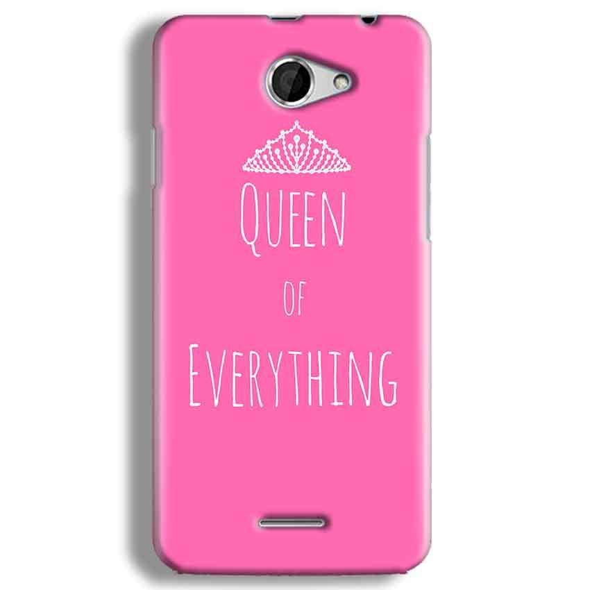 HTC Desire 516 Mobile Covers Cases Queen Of Everything Pink White - Lowest Price - Paybydaddy.com