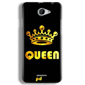 HTC Desire 516 Mobile Covers Cases Queen With Crown in gold - Lowest Price - Paybydaddy.com