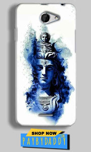 HTC Desire 516 Mobile Covers Cases Shiva Blue White - Lowest Price - Paybydaddy.com