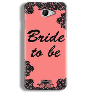 HTC Desire 516 Mobile Covers Cases Mobile Covers Cases bride to be with ring Black Pink - Lowest Price - Paybydaddy.com