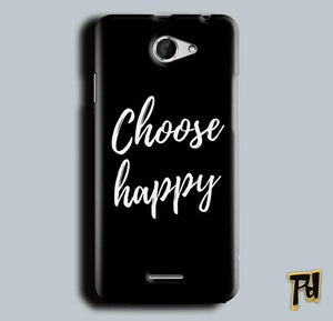 HTC Desire 516 Mobile Covers Cases Choose happy - Lowest Price - Paybydaddy.com