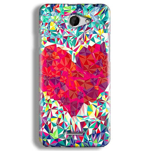 HTC Desire 516 Mobile Covers Cases heart Prisma design - Lowest Price - Paybydaddy.com