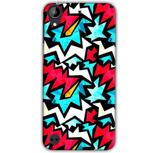 HTC Desire 530 Mobile Covers Cases Colored Design Pattern - Lowest Price - Paybydaddy.com