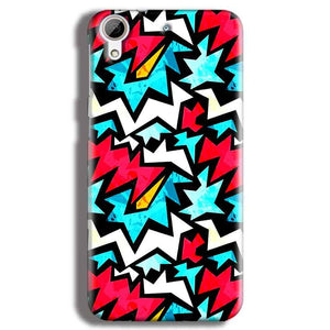 HTC Desire 626 Mobile Covers Cases Colored Design Pattern - Lowest Price - Paybydaddy.com