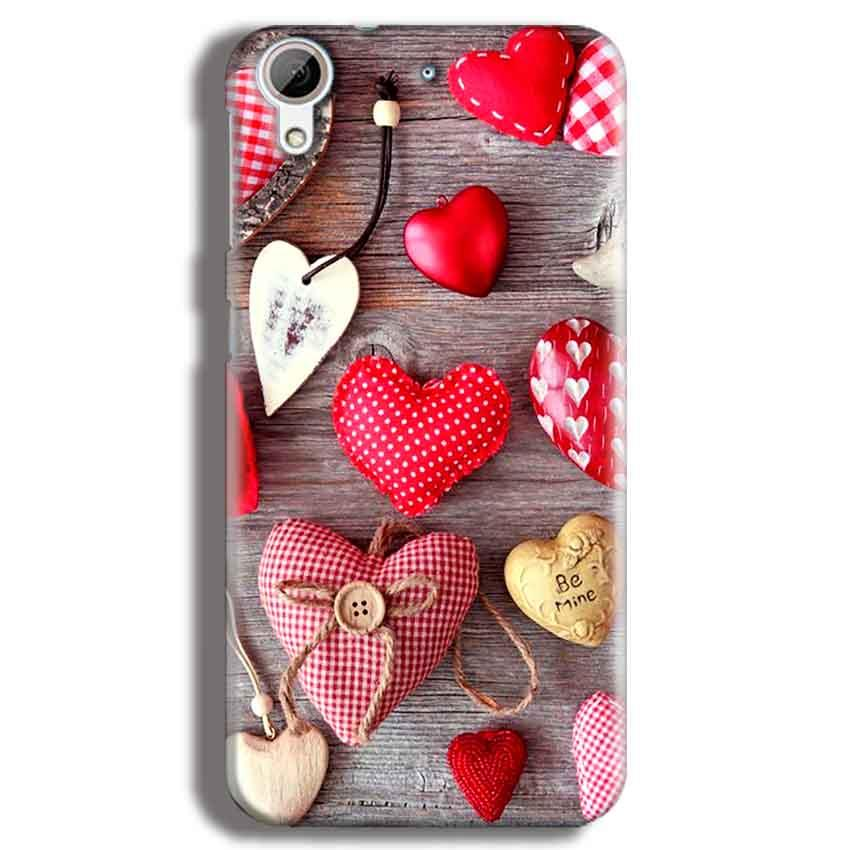 HTC Desire 626 Mobile Covers Cases Hearts- Lowest Price - Paybydaddy.com