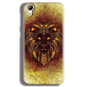HTC Desire 626 Mobile Covers Cases Lion face art - Lowest Price - Paybydaddy.com