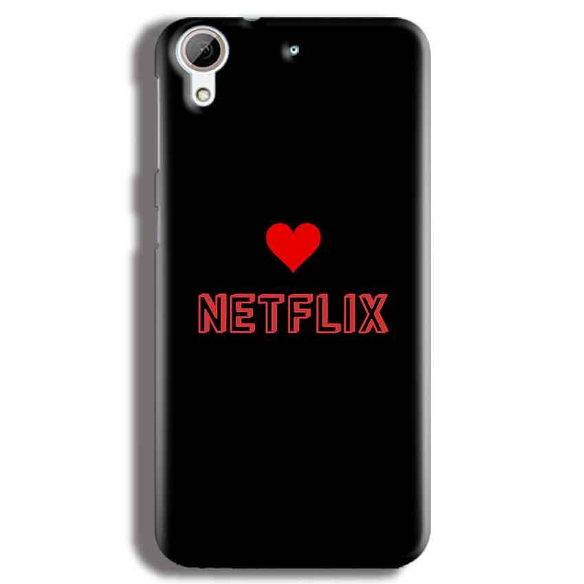 HTC Desire 626 Mobile Covers Cases NETFLIX WITH HEART - Lowest Price - Paybydaddy.com