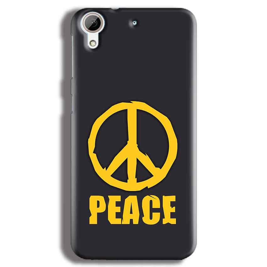 HTC Desire 626 Mobile Covers Cases Peace Blue Yellow - Lowest Price - Paybydaddy.com