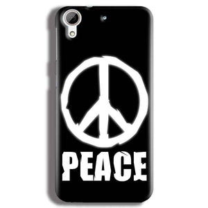 HTC Desire 626 Mobile Covers Cases Peace Sign In White - Lowest Price - Paybydaddy.com