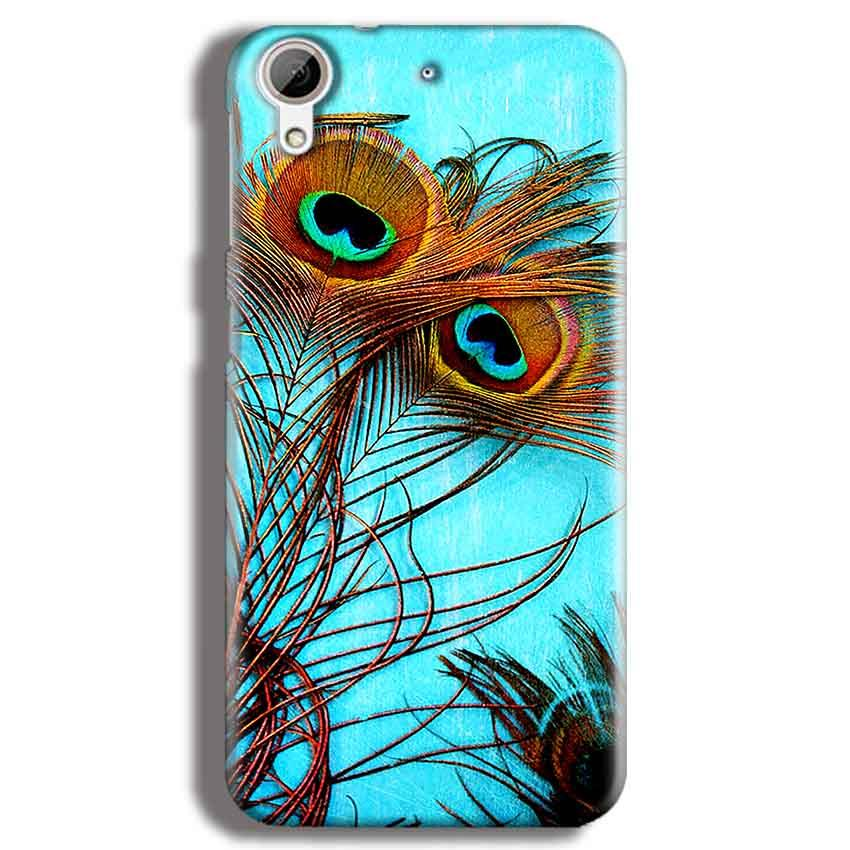 HTC Desire 626 Mobile Covers Cases Peacock blue wings - Lowest Price - Paybydaddy.com