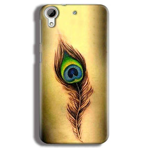 HTC Desire 626 Mobile Covers Cases Peacock coloured art - Lowest Price - Paybydaddy.com