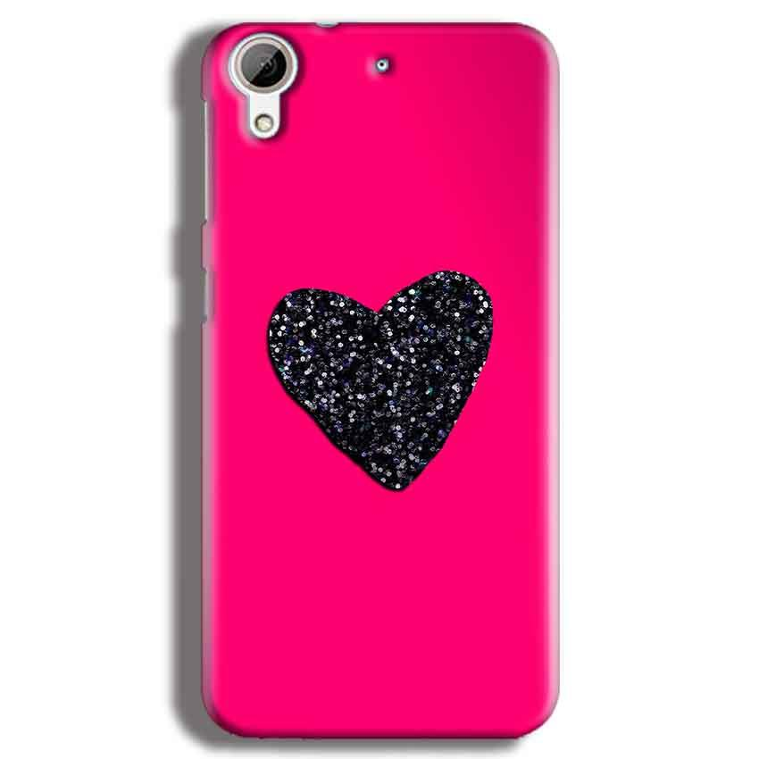 HTC Desire 626 Mobile Covers Cases Pink Glitter Heart - Lowest Price - Paybydaddy.com