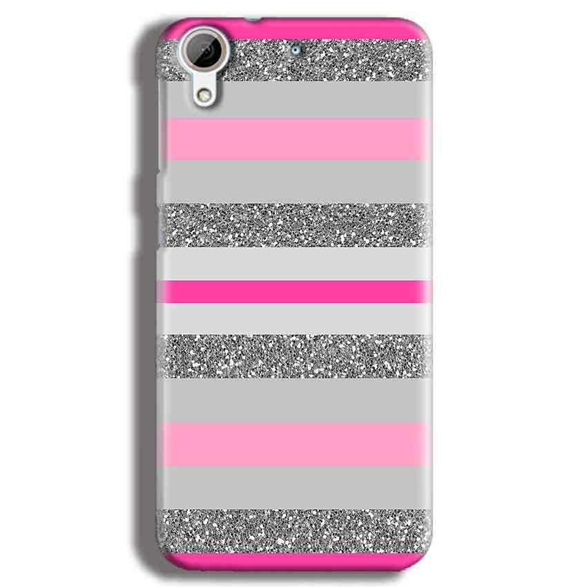HTC Desire 626 Mobile Covers Cases Pink colour pattern - Lowest Price - Paybydaddy.com