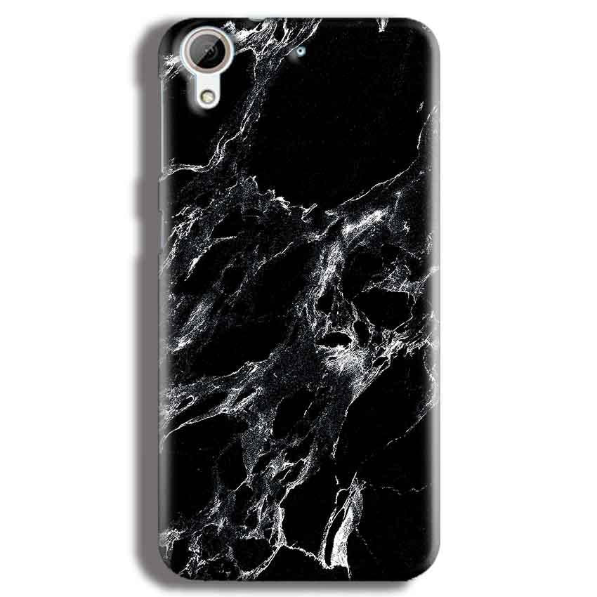 HTC Desire 626 Mobile Covers Cases Pure Black Marble Texture - Lowest Price - Paybydaddy.com