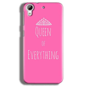 HTC Desire 626 Mobile Covers Cases Queen Of Everything Pink White - Lowest Price - Paybydaddy.com