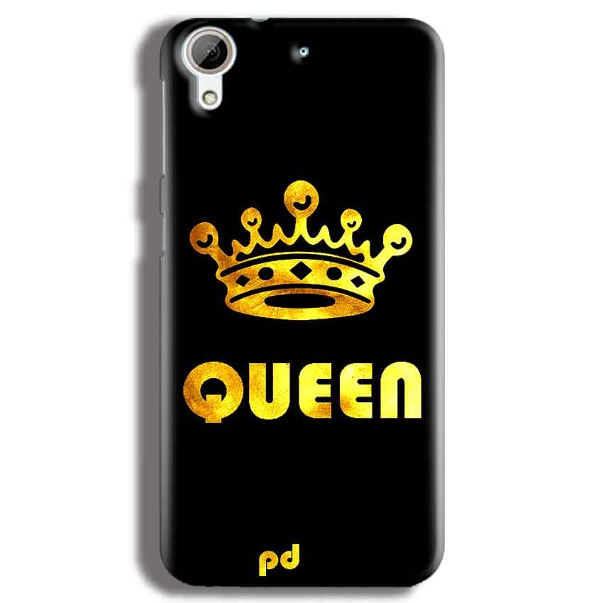 HTC Desire 626 Mobile Covers Cases Queen With Crown in gold - Lowest Price - Paybydaddy.com