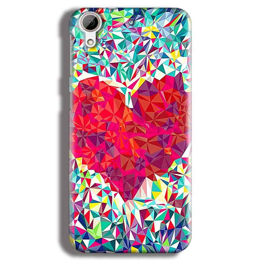 HTC Desire 626 Mobile Covers Cases heart Prisma design - Lowest Price - Paybydaddy.com