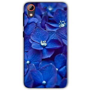 HTC Desire 628 Mobile Covers Cases Blue flower - Lowest Price - Paybydaddy.com