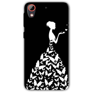 HTC Desire 628 Mobile Covers Cases Butterfly black girl - Lowest Price - Paybydaddy.com