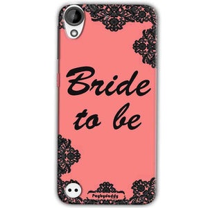 HTC Desire 630 Mobile Covers Cases Mobile Covers Cases bride to be with ring Black Pink - Lowest Price - Paybydaddy.com