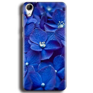 HTC Desire 728 Mobile Covers Cases Blue flower - Lowest Price - Paybydaddy.com
