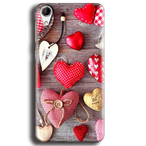 HTC Desire 728 Mobile Covers Cases Hearts- Lowest Price - Paybydaddy.com