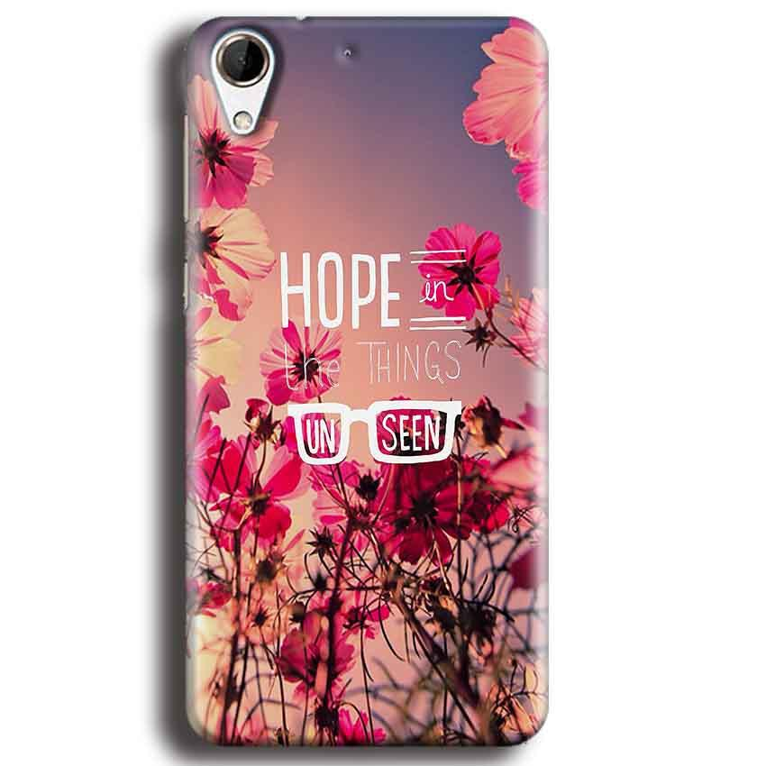 HTC Desire 728 Mobile Covers Cases Hope in the Things Unseen- Lowest Price - Paybydaddy.com