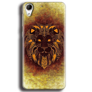 HTC Desire 728 Mobile Covers Cases Lion face art - Lowest Price - Paybydaddy.com