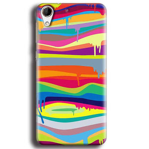 HTC Desire 728 Mobile Covers Cases Melted colours - Lowest Price - Paybydaddy.com