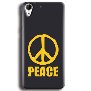 HTC Desire 728 Mobile Covers Cases Peace Blue Yellow - Lowest Price - Paybydaddy.com