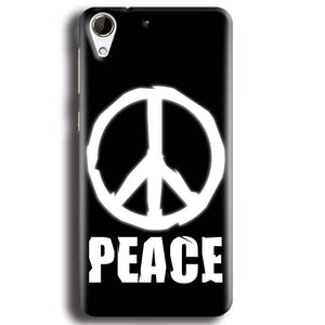 HTC Desire 728 Mobile Covers Cases Peace Sign In White - Lowest Price - Paybydaddy.com