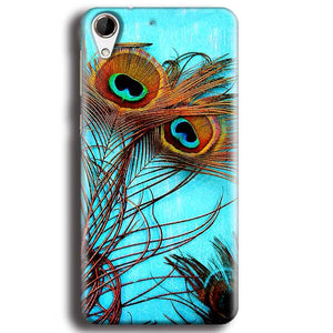HTC Desire 728 Mobile Covers Cases Peacock blue wings - Lowest Price - Paybydaddy.com