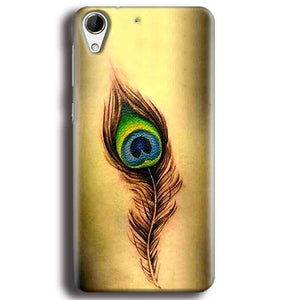 HTC Desire 728 Mobile Covers Cases Peacock coloured art - Lowest Price - Paybydaddy.com