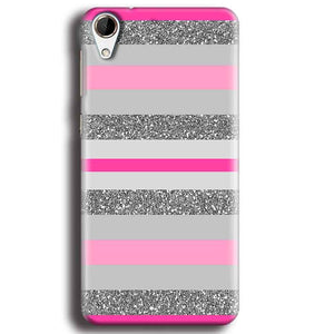 HTC Desire 728 Mobile Covers Cases Pink colour pattern - Lowest Price - Paybydaddy.com