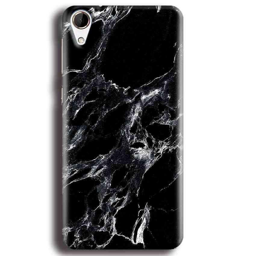 HTC Desire 728 Mobile Covers Cases Pure Black Marble Texture - Lowest Price - Paybydaddy.com