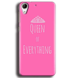 HTC Desire 728 Mobile Covers Cases Queen Of Everything Pink White - Lowest Price - Paybydaddy.com
