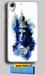 HTC Desire 728 Mobile Covers Cases Shiva Blue White - Lowest Price - Paybydaddy.com
