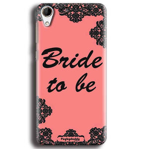 HTC Desire 728 Mobile Covers Cases Mobile Covers Cases bride to be with ring Black Pink - Lowest Price - Paybydaddy.com