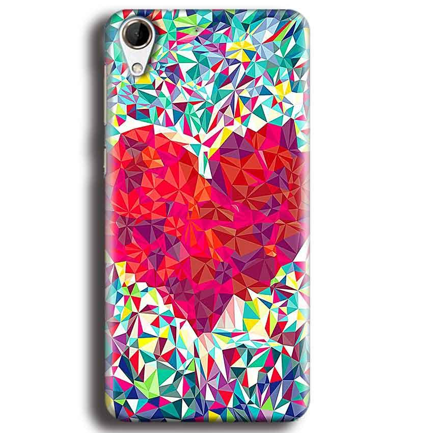 HTC Desire 728 Mobile Covers Cases heart Prisma design - Lowest Price - Paybydaddy.com