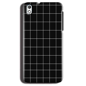 HTC Desire 816 Mobile Covers Cases Black with White Checks - Lowest Price - Paybydaddy.com