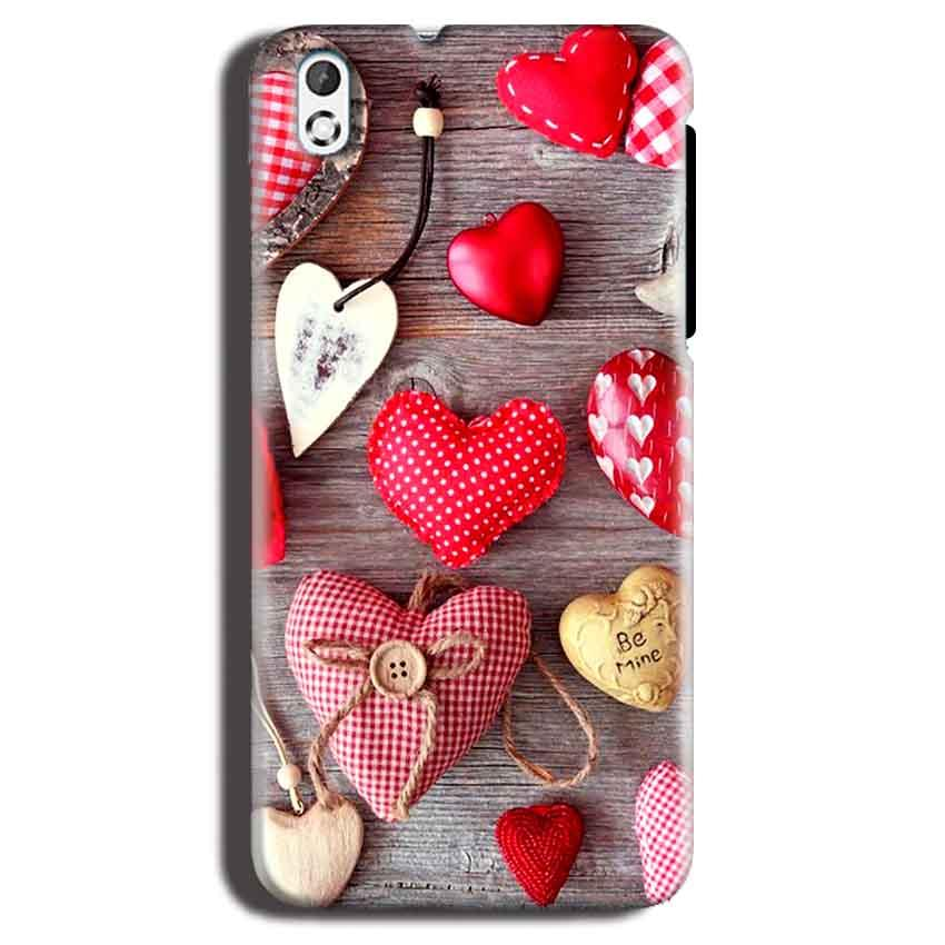 HTC Desire 816 Mobile Covers Cases Hearts- Lowest Price - Paybydaddy.com