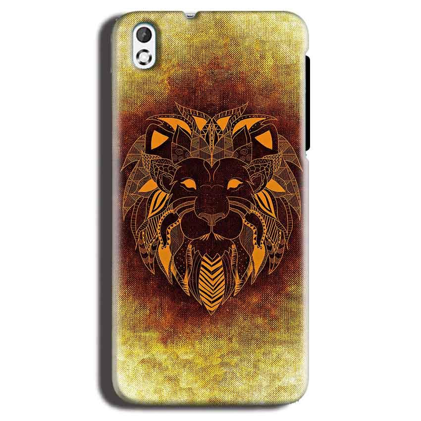 HTC Desire 816 Mobile Covers Cases Lion face art - Lowest Price - Paybydaddy.com